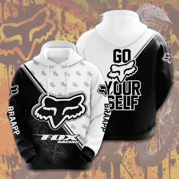 Fox racing go fox yourself 3d over print hoodie