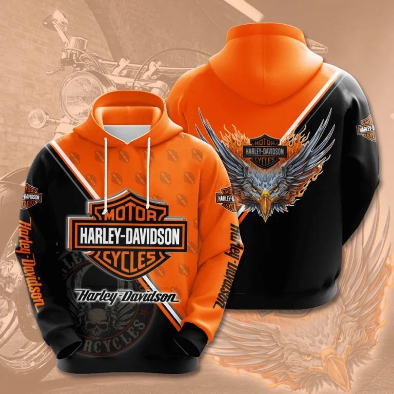 Harley Davidson motor cycles 3d hoodie