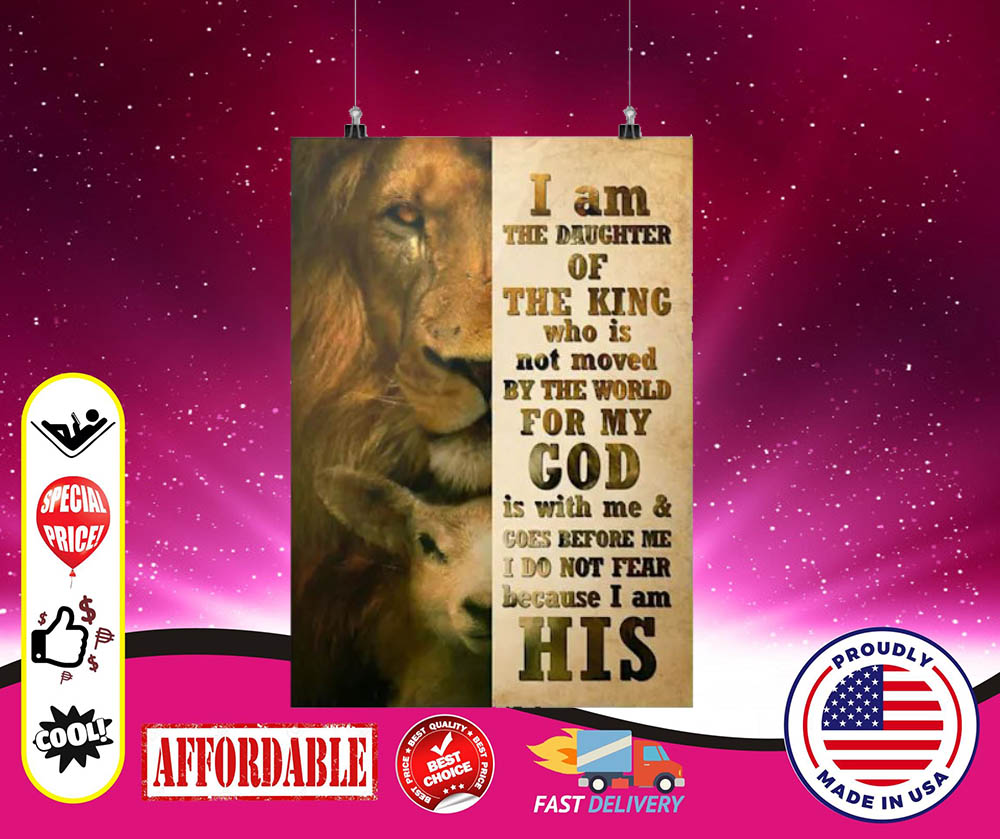 I am the daughter of the king who is not moved by the world cool poster