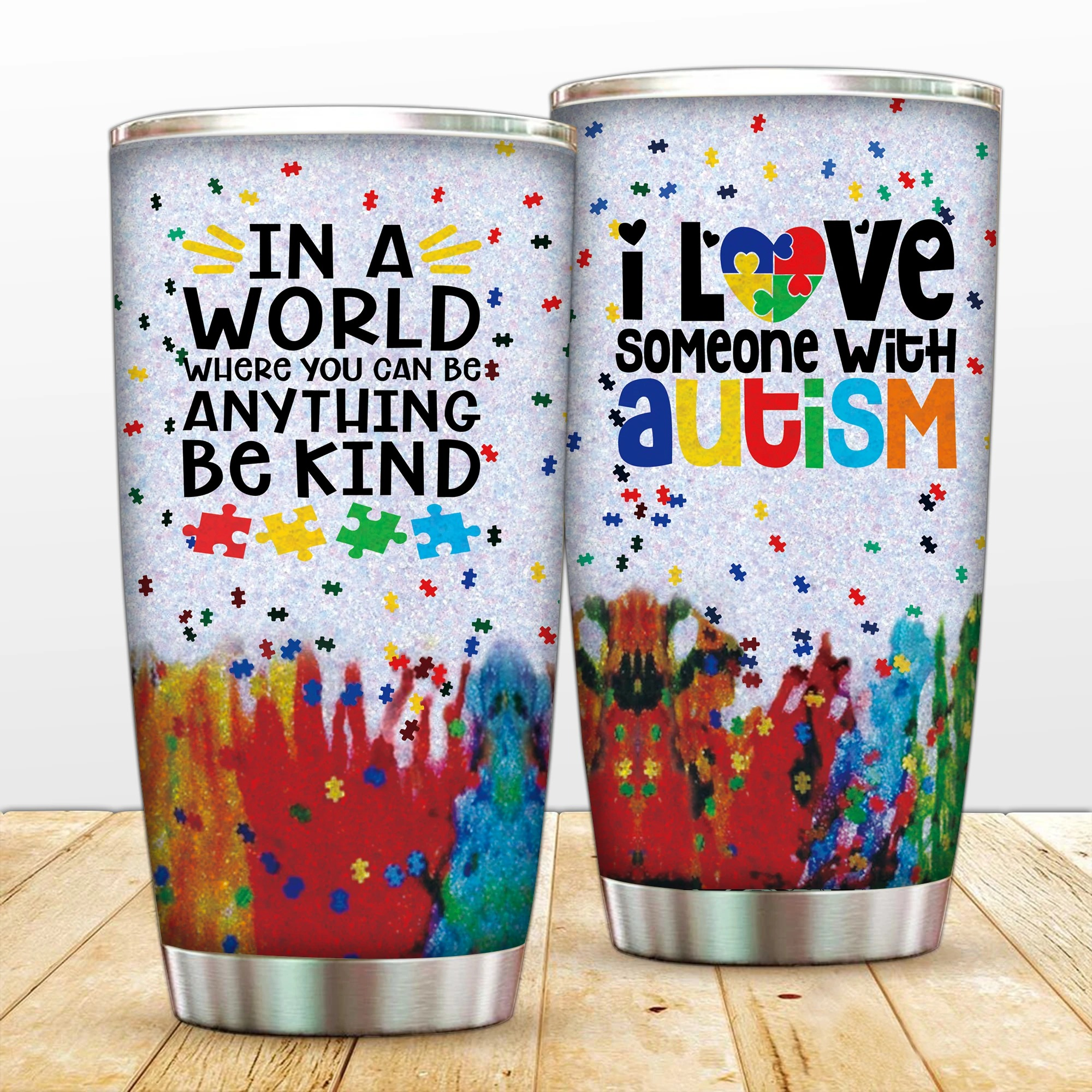 I love someone with autism tumbler
