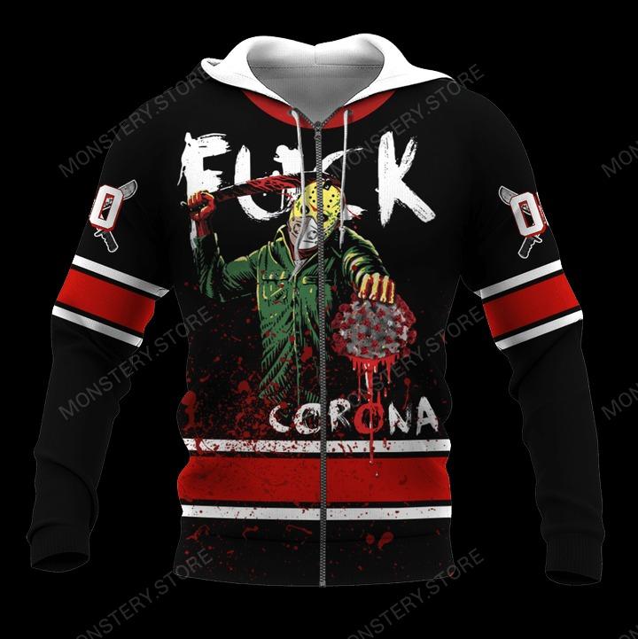 Jason Fuck Corona Custom name 3d zip hoodie