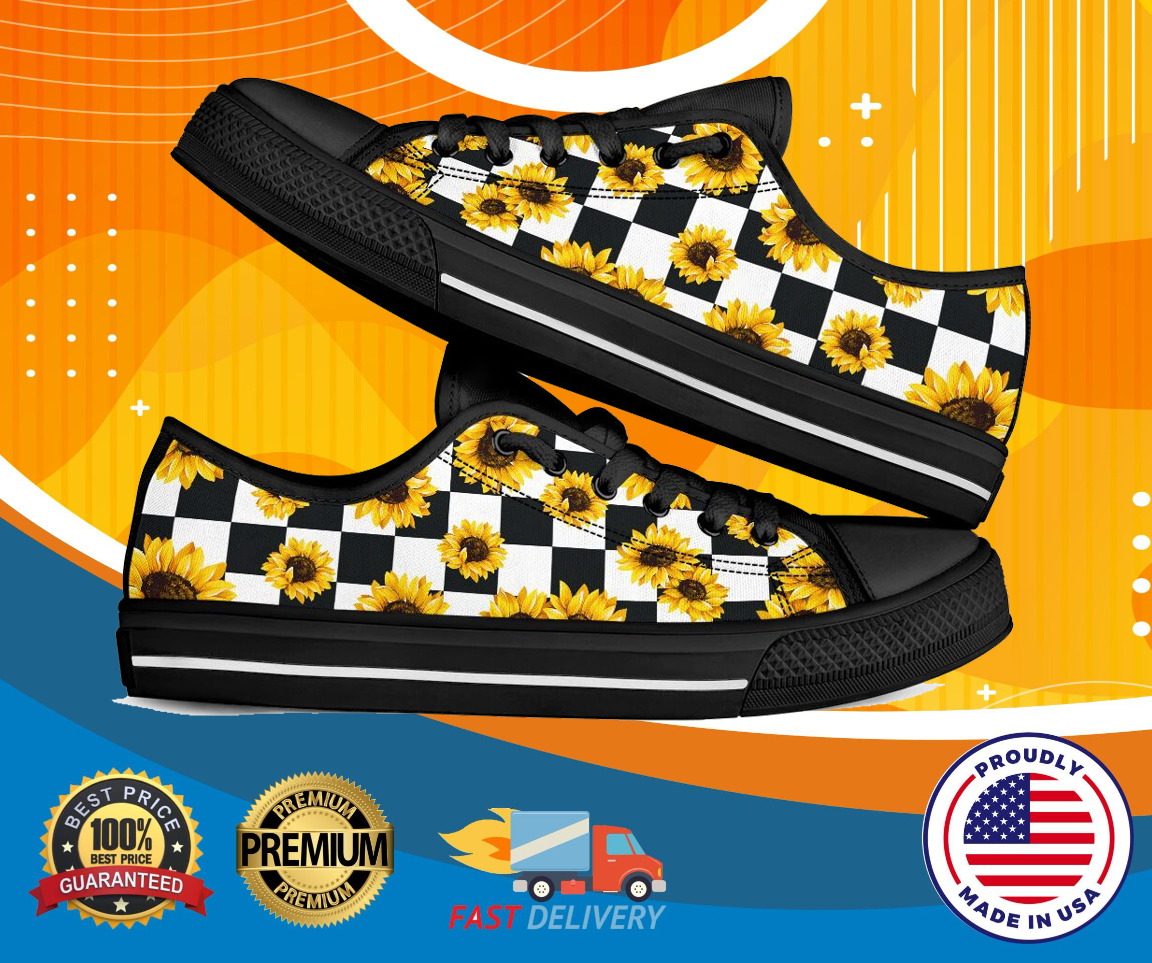 Sunflower low top luxury shoes
