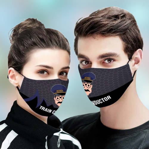 Train Conductor 3D Face Mask