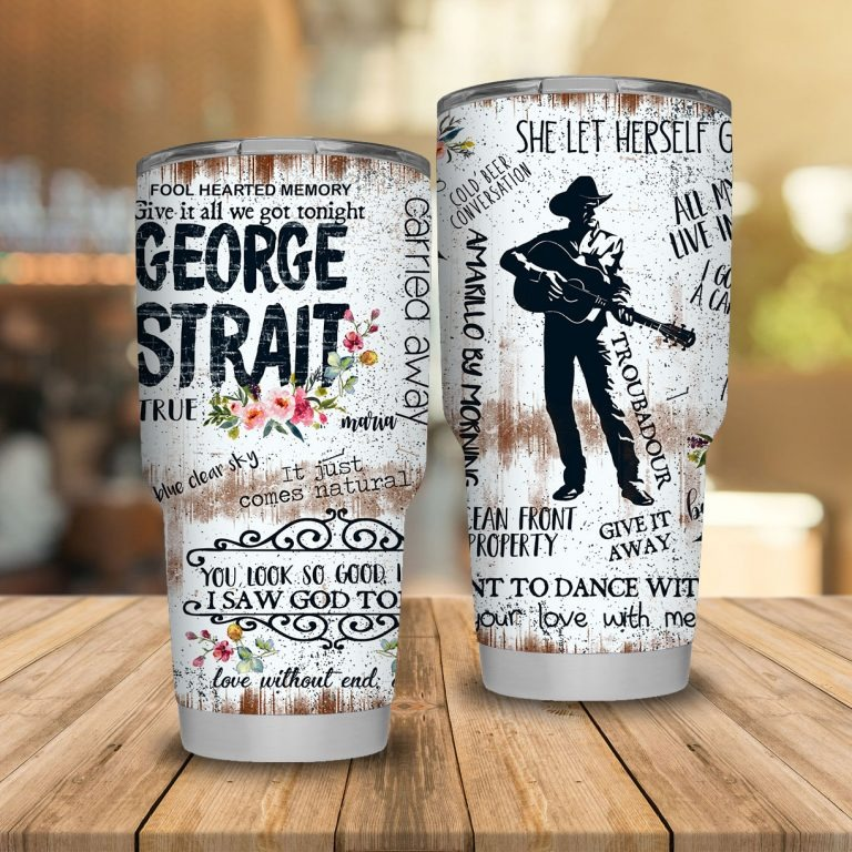 George Strait Stainless Steel Tumblers