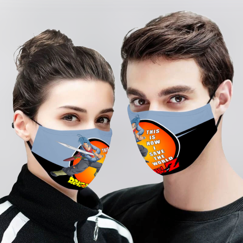 Trunks Dragon Ball Z 3D Cloth Face Mask