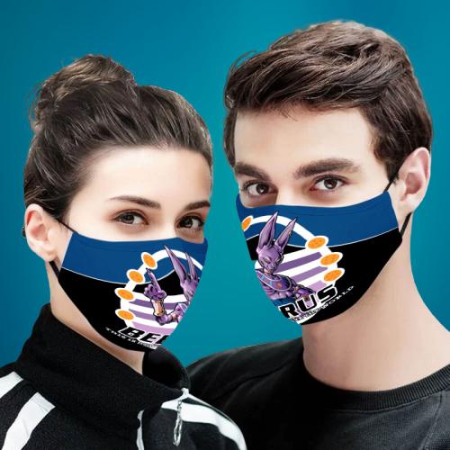 Beerus Dragon Ball Z 3D Cloth Face Mask