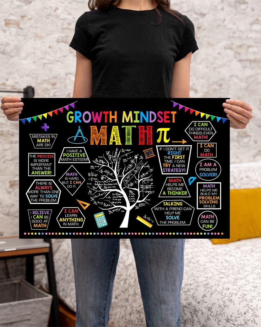 Growth mindset math poster