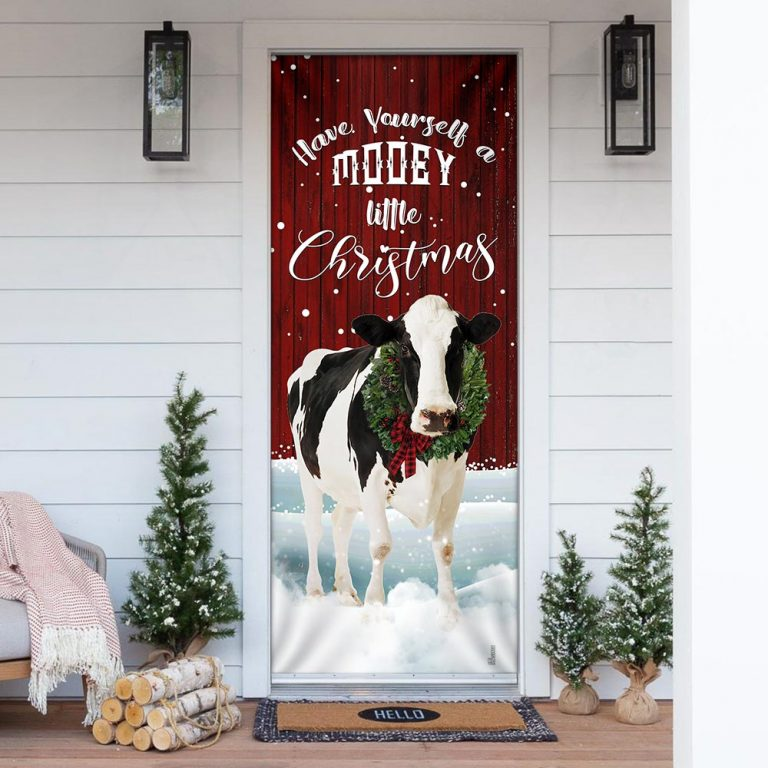 A Little Mooey Christmas Door Cover