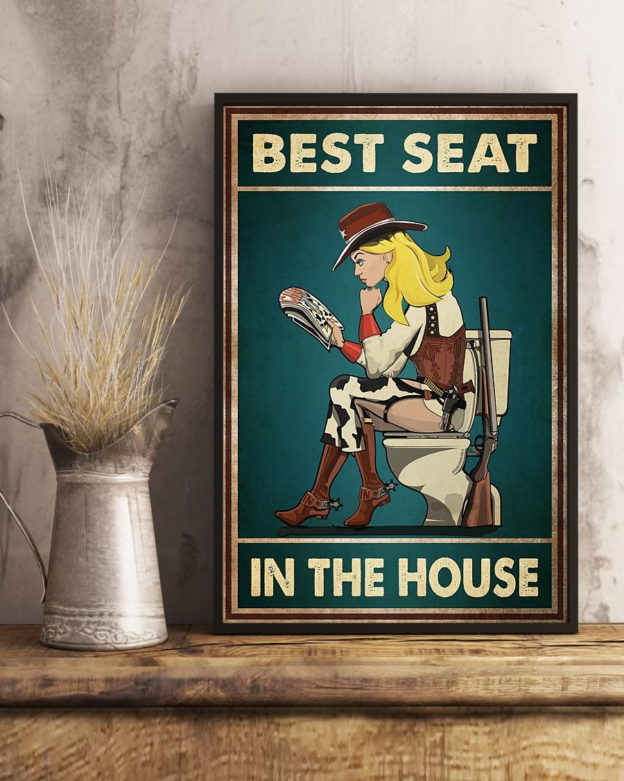 Cowboy girl best seat in the house poster