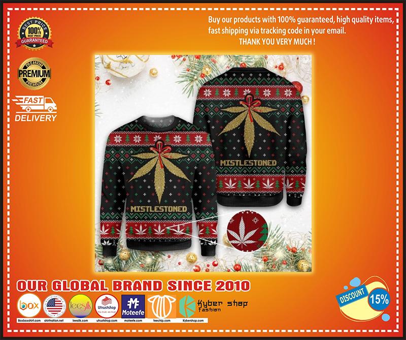 Merry christmas weed ugly christmas sweater
