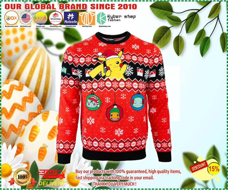 Pikachu pokemon ugly christmas sweater