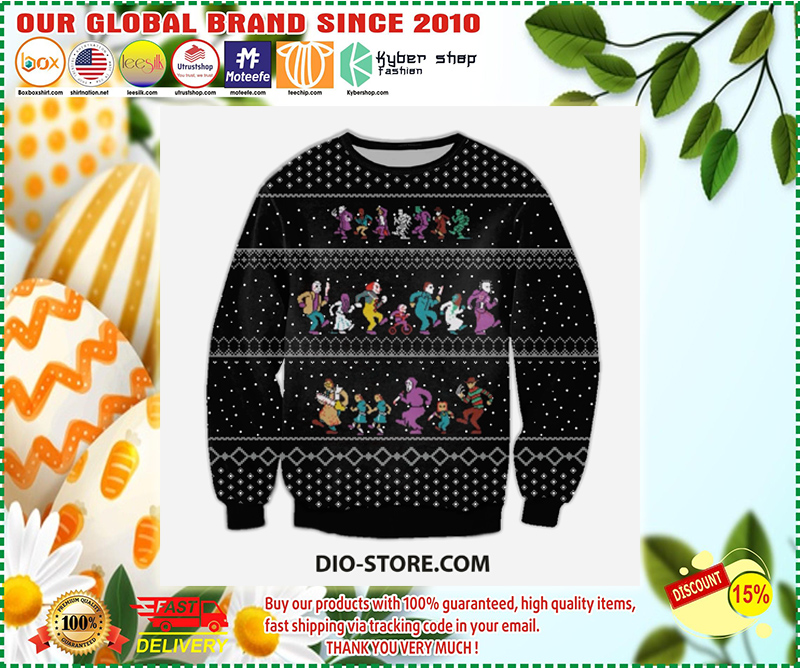 THE HORROR CHRISTMAS VACATION UGLY CHRISTMAS SWEATER