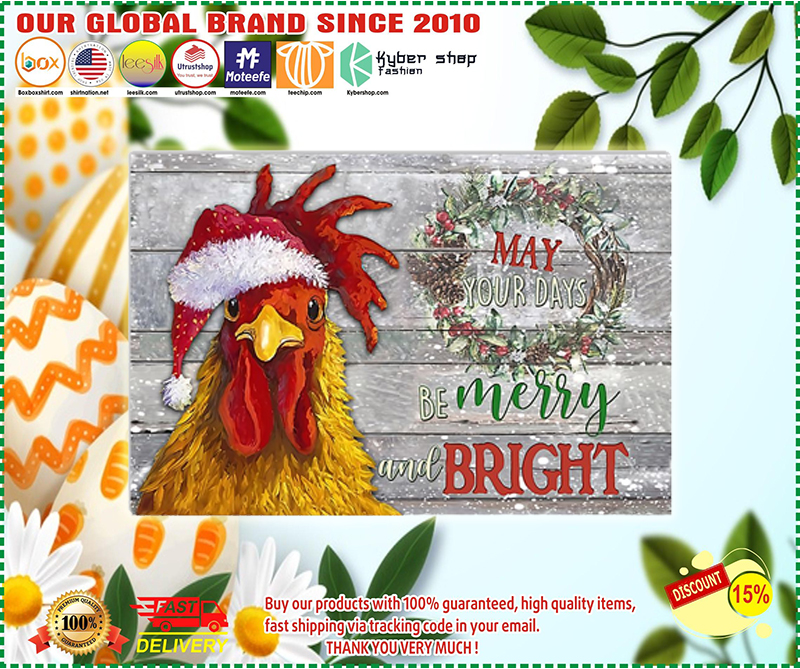 Chicken may your days be merry and bright poster