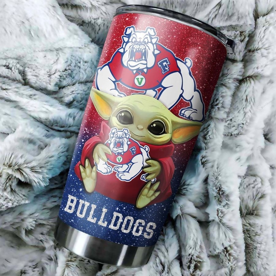 Fresno State Bulldogs football Baby Yoda Custom Name Tumbler