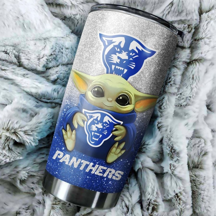 Georgia State Panthers Baby Yoda Custom Name Tumbler