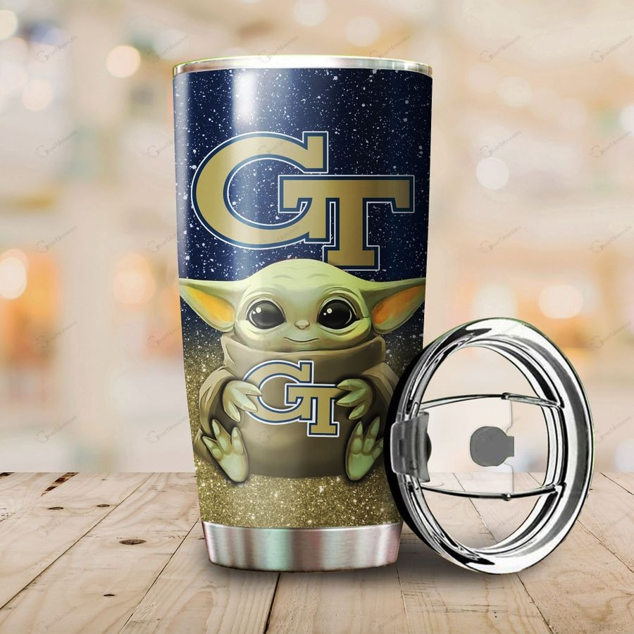 Georgia Tech Yellow Jackets Yoda Tumbler