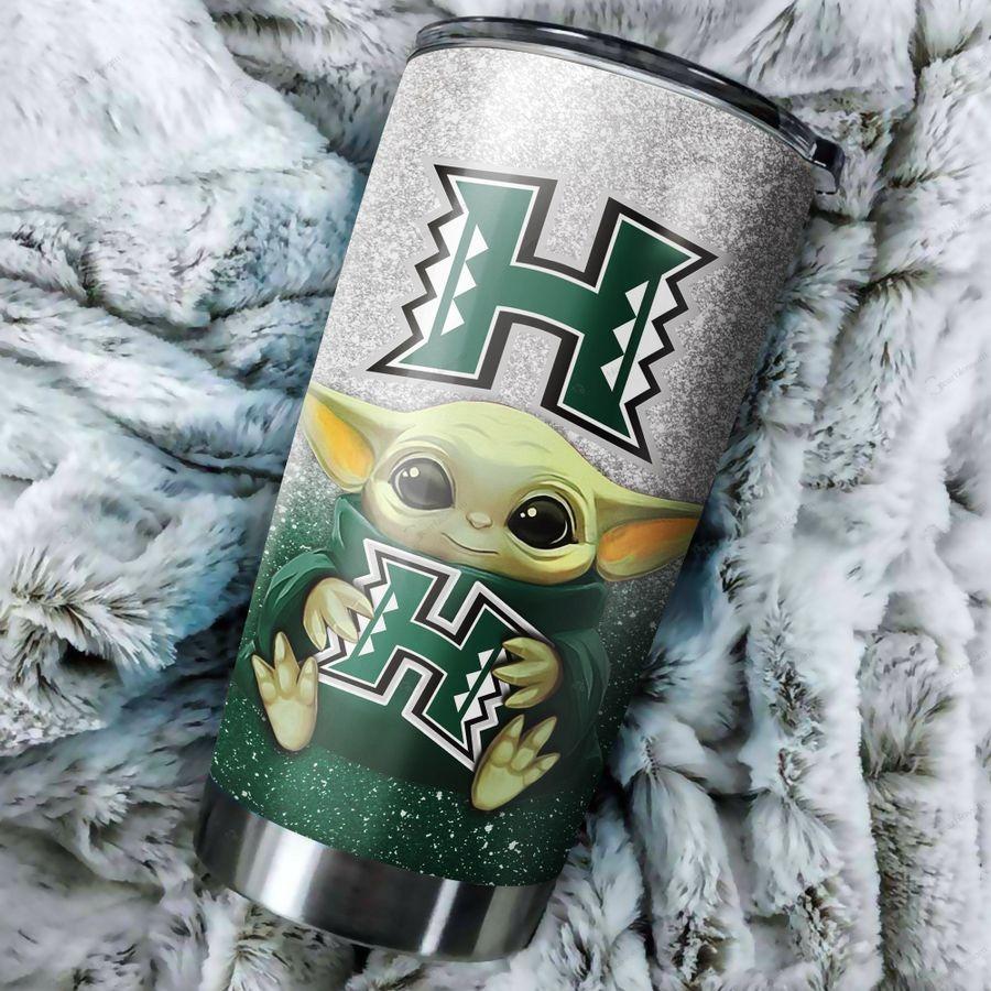 Hawaii Rainbow Warriors Yoda Tumbler
