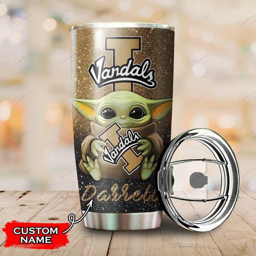 Idaho Vandals Baby Yoda Custom Name Tumbler