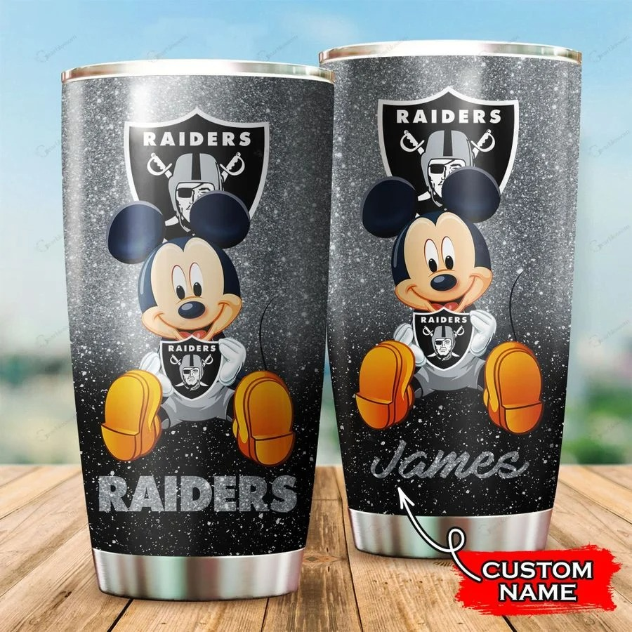 Mickey Las Vegas Raiders custom name tumbler