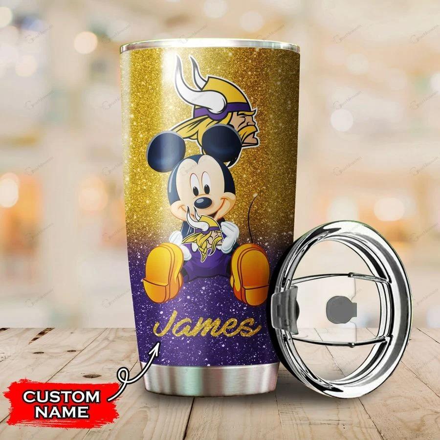 Mickey Minnesota Vikings custom name tumbler