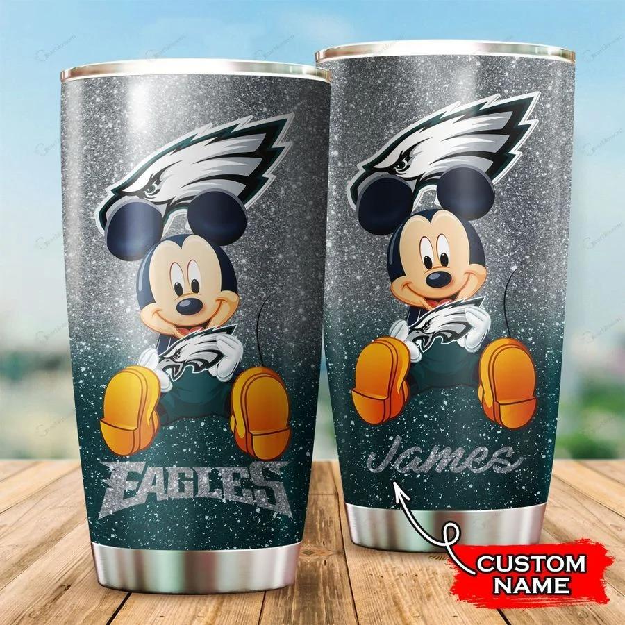 Mickey Philadelphia Eagles custom name tumbler