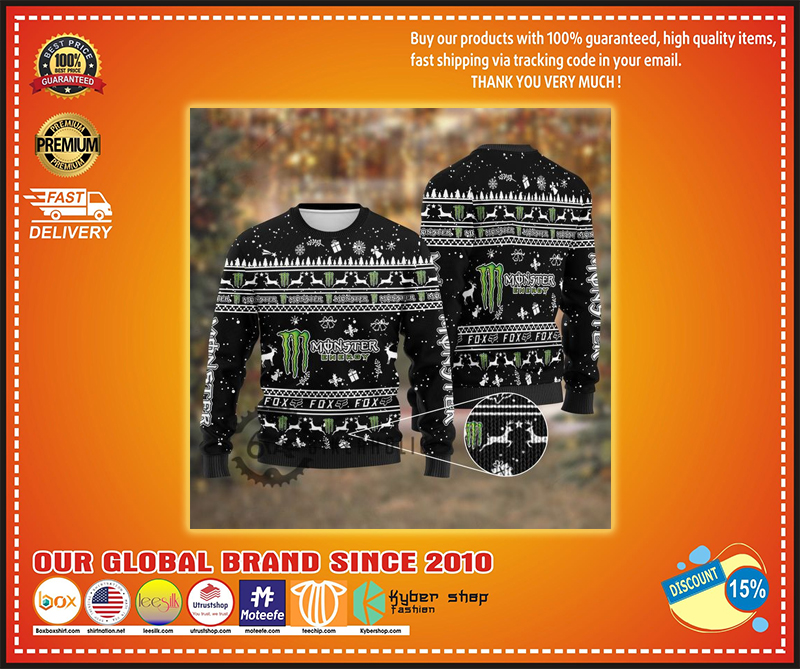 Monster energy ugly christmas sweater