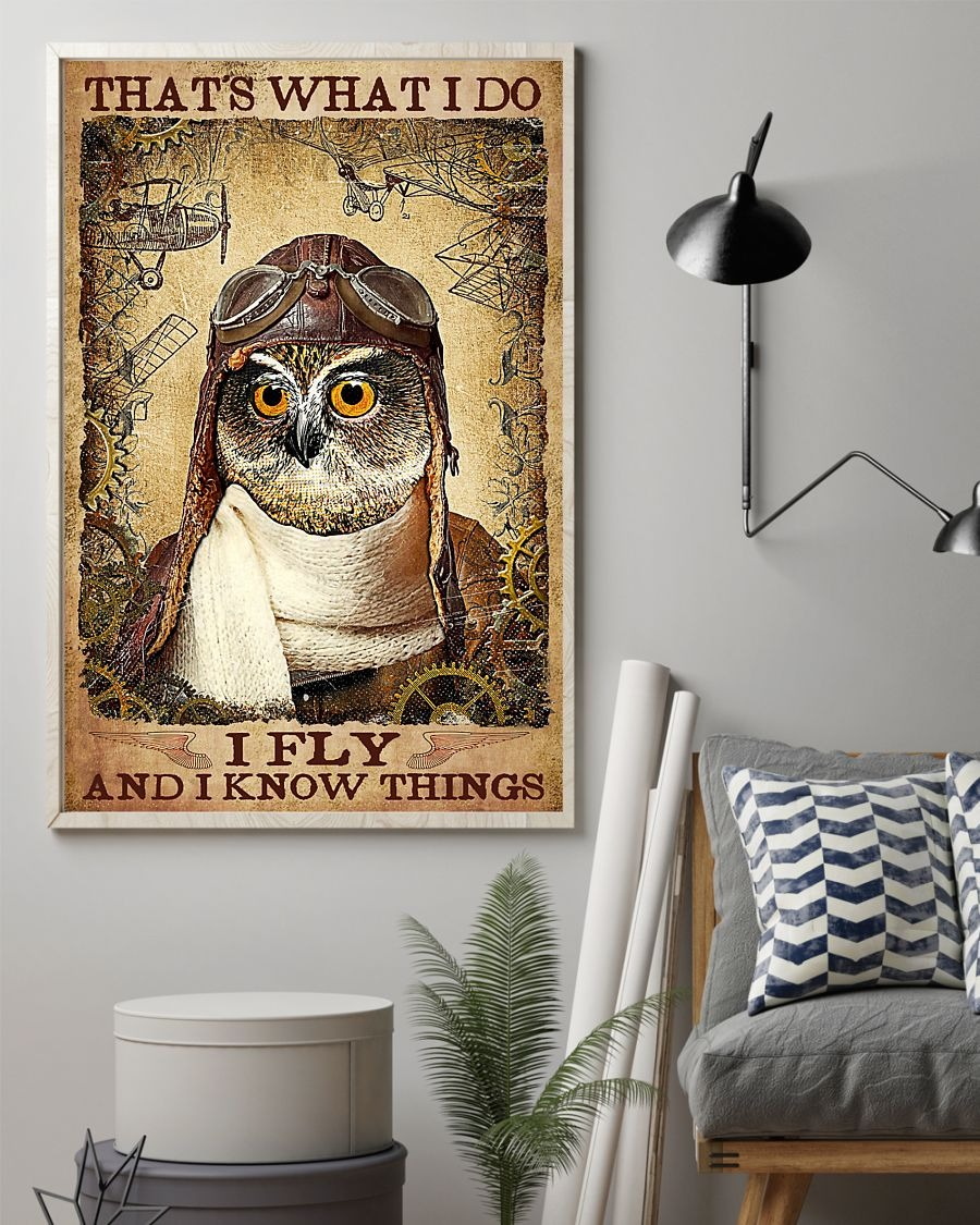 Owl that's what I do I fly and I know things poster