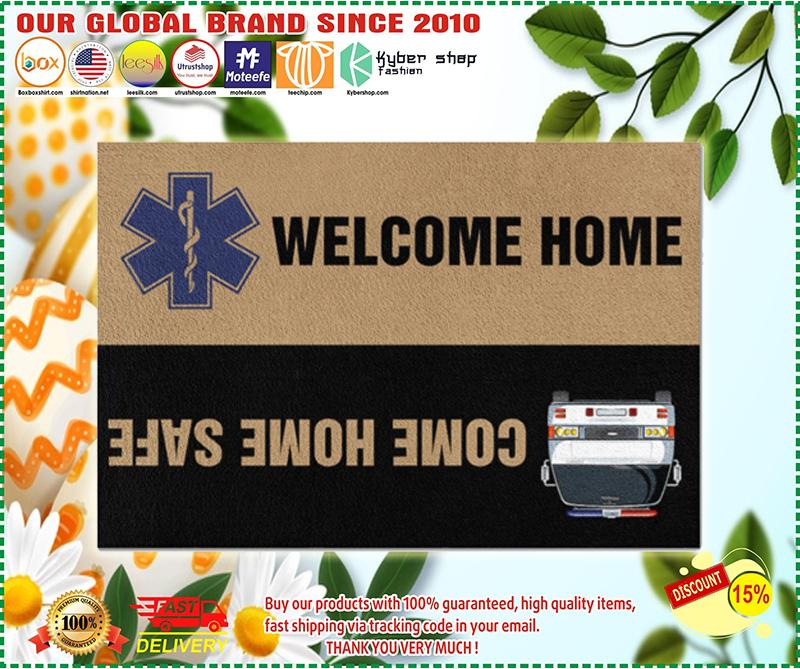 Paramedic come home safe doormat