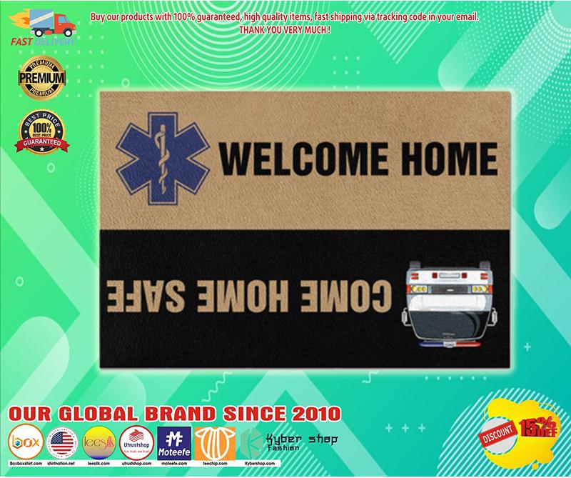 Paramedic welcome home doormat