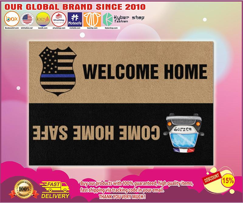 Police welcome home doormat