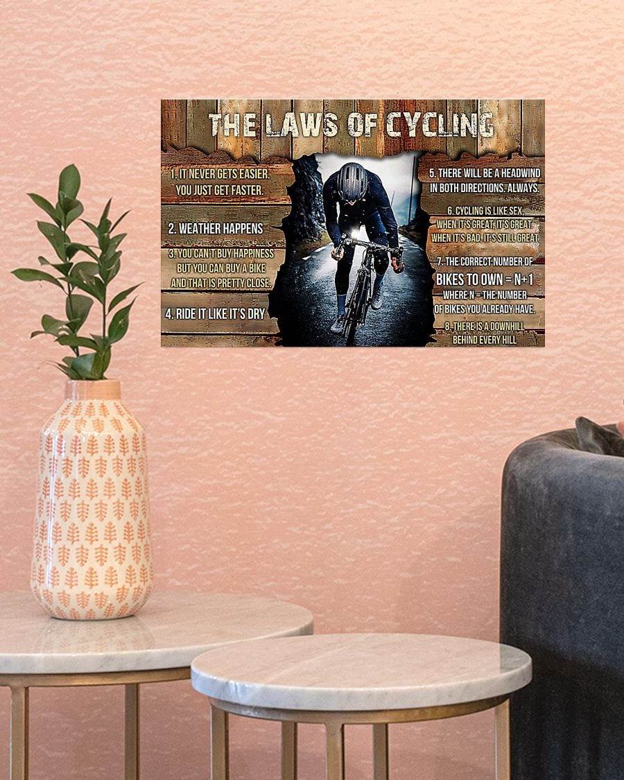 The laws of cycling poster