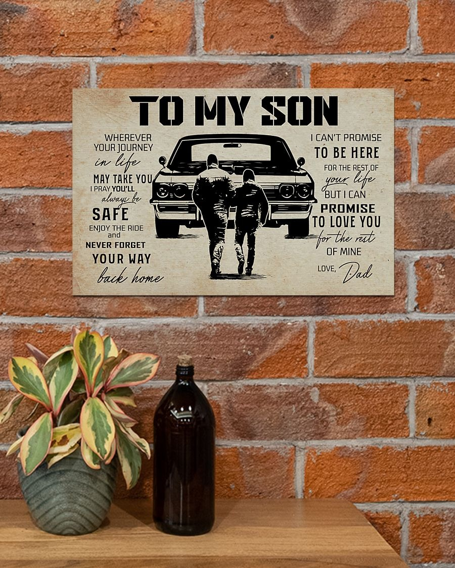 To my son I can't promise to be here poster