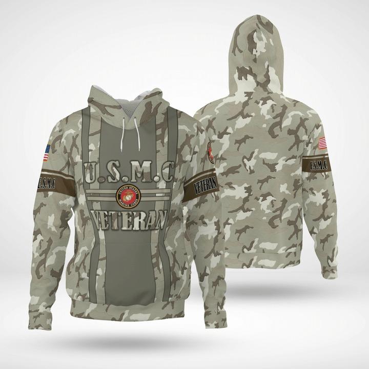USMC veteran 3d hoodie