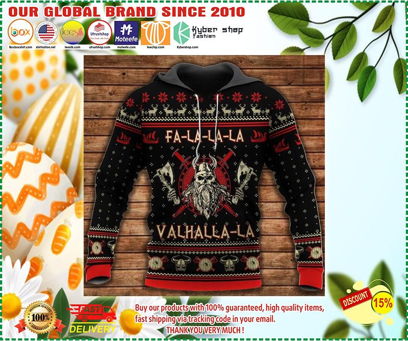 Viking pattern 3d hoodie