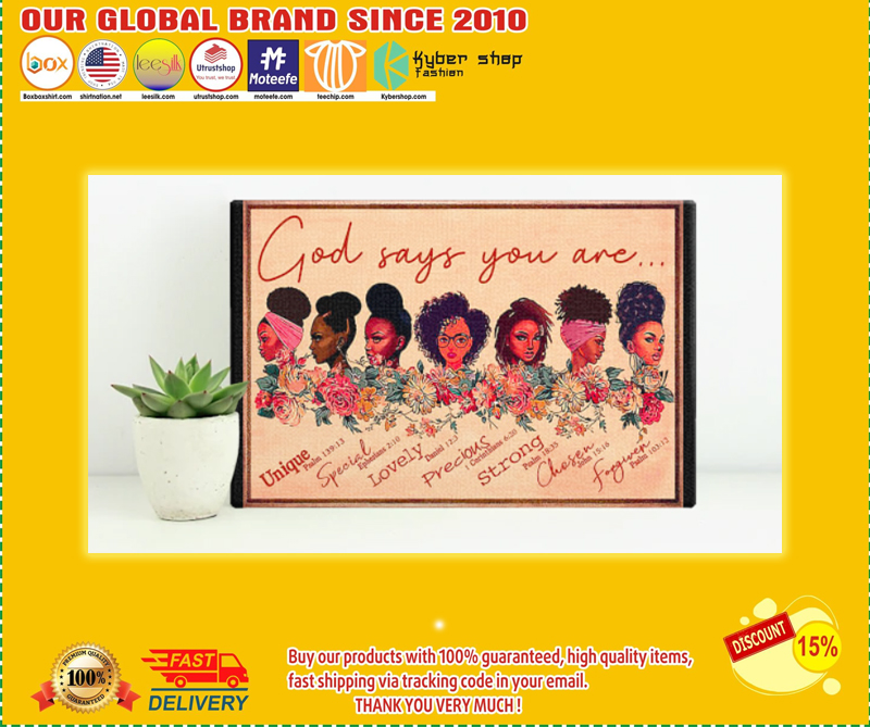 Black girl god says you are poster