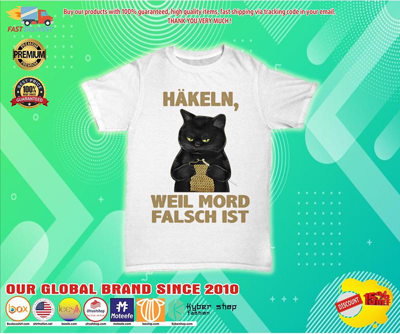 Cat Hakeln weil mord falsch ist shirt