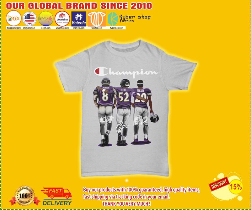 Champion Baltimore Ravens Jason Lewis reed shirt