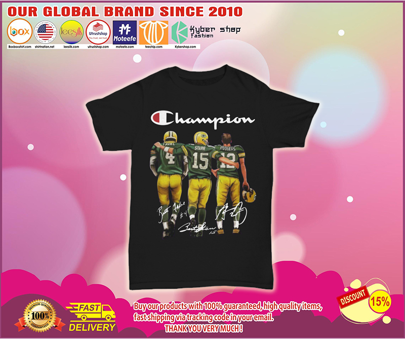 Champion Green Bay Packers favre starr rodgers shirt
