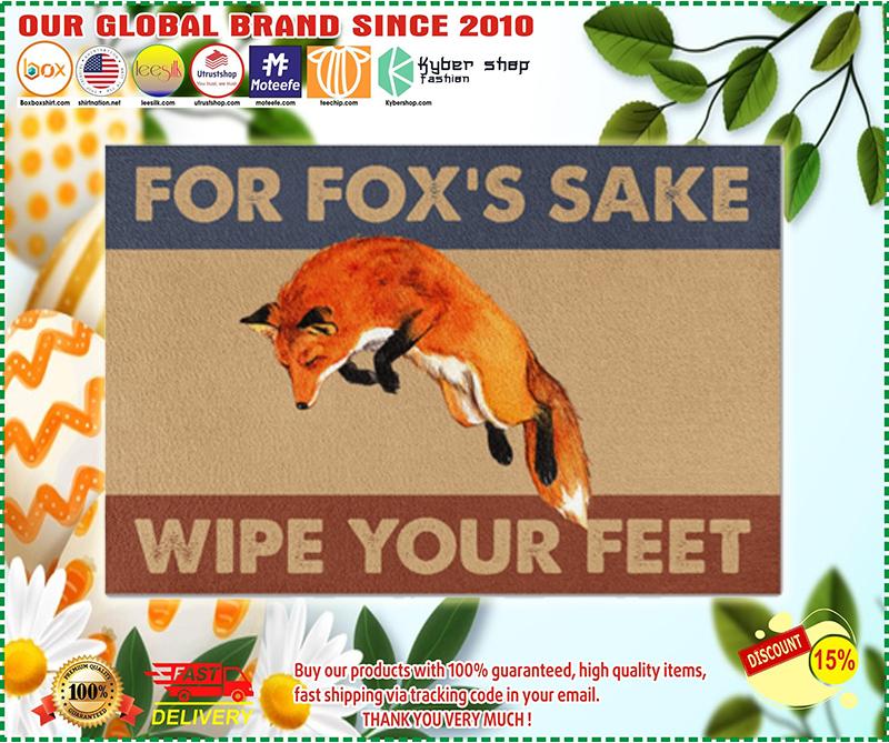 Fox fox's sake wipe your feet doormat