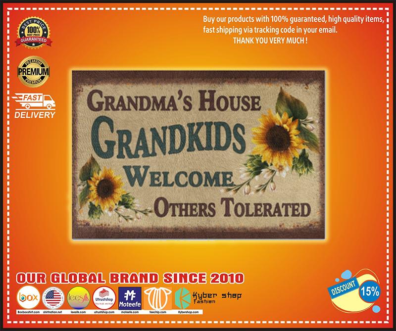 Grandma's house grandkids welcome doormat