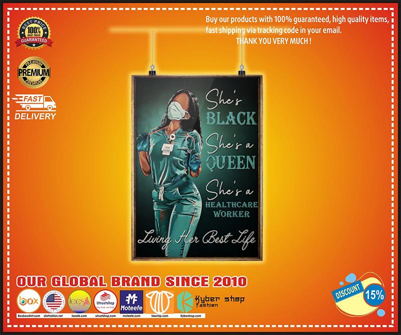 Healthcare worker she is black queen poster