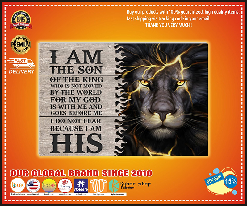Lion I'm the son of the king poster