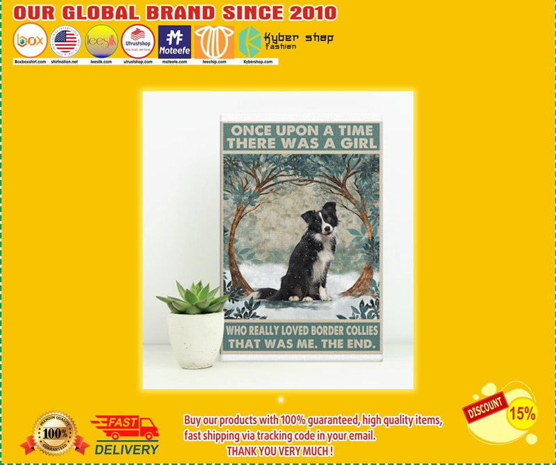 Once upon a time there was a girl who really loved border collies poster