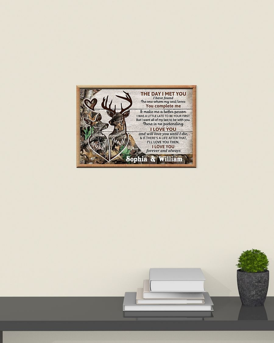 Personalized Deer The day I met you custom name poster