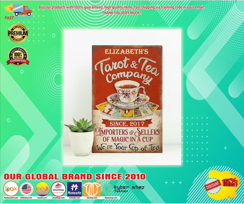 Personalized Tarot and tea company importers and sellers of magic in a cup poster