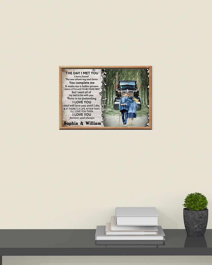 Personalized Truck The day I met you I custom name poster