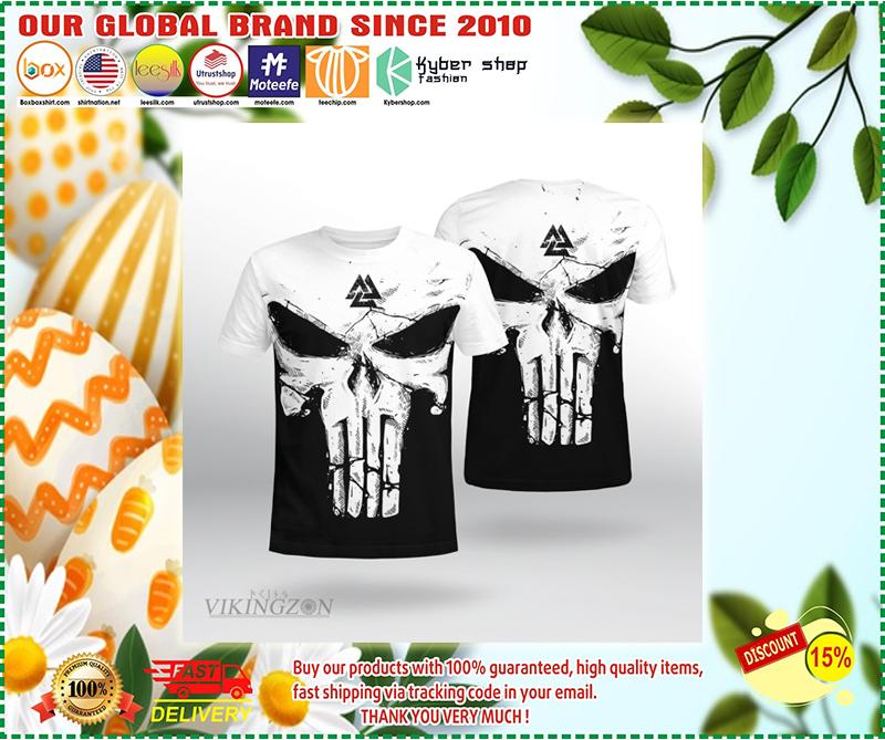 Skull viking until valhalla 3d shirt