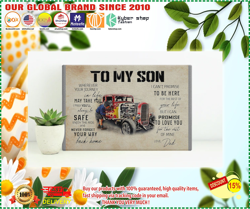 Truck To my son wherever your journey in life poster