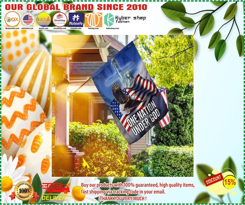 US Eagle one nation under god flag 2