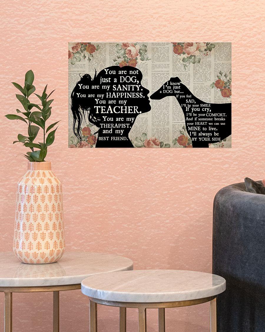 Whippet dog girl therapist best friend poster